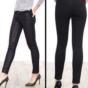Banana Republic Vegan Leather Front / Fabric Pants